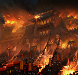 铁血皇城游戏原画-打国战
