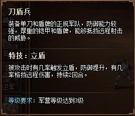 热血三国3兵种详解之刀盾兵